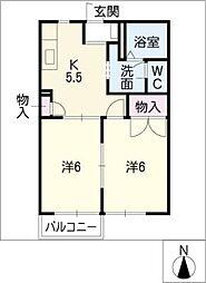 ガーデンサバーム栄[2階]の間取り