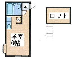 神奈川県相模原市中央区弥栄2丁目の賃貸アパートの間取り