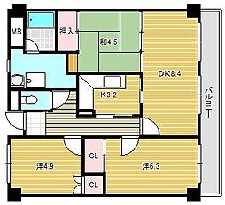 マンション・フォルツーナ[3階]の間取り