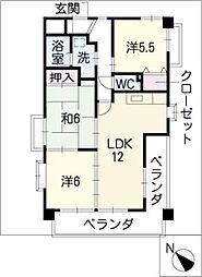 グランソミューレ[1階]の間取り