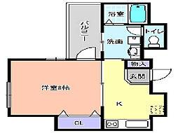プログレス櫛屋町[702号室]の間取り