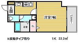 プレサンス神戸みなと元町[11階]の間取り