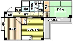 コンフォート淡路[4階]の間取り