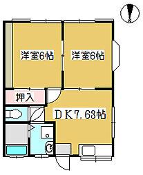 旭コーポ1階Fの間取り画像