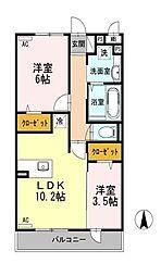 CAPE KANEKO B棟[3階]の間取り