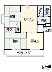 アーバンユキ[1階]の間取り