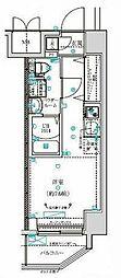 クラリッサ横浜阪東橋 5階ワンルームの間取り