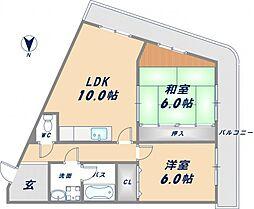 PARK SIDE CHATEAU[3階]の間取り