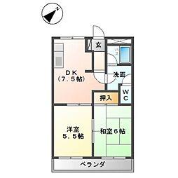 ピュアハイツTOMO[2階]の間取り