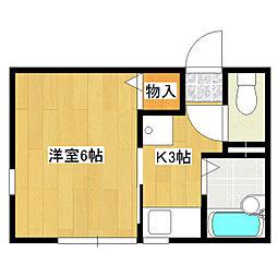 福志荘AB[2階]の間取り