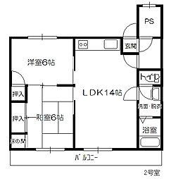 コーポHIYOSHI[102号室]の間取り