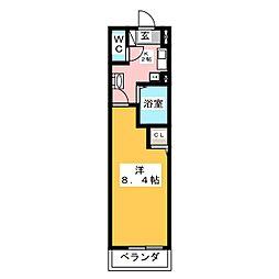 ヒルズ花の木[6階]の間取り