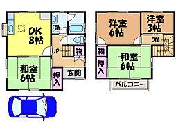[一戸建] 愛媛県松山市星岡4丁目 の賃貸【/】の間取り