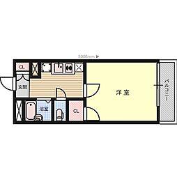 ドリームハイツ氷室[2階]の間取り