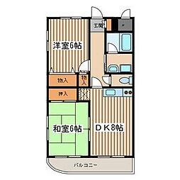 東京都町田市相原町の賃貸マンションの間取り
