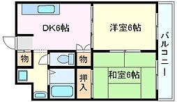 兵庫県明石市大久保町谷八木の賃貸マンションの間取り
