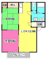 ナカヤハウスB[2階]の間取り