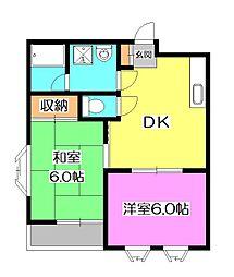 サニーハイツ[2階]の間取り
