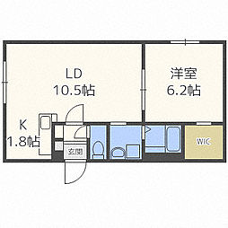北海道札幌市中央区南十四条西6丁目の賃貸マンションの間取り