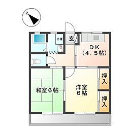 コーポYAMANO[102号室]の間取り