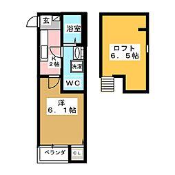 宮城県仙台市若林区保春院前丁の賃貸アパートの間取り