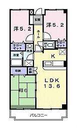 東京都東村山市久米川町1丁目の賃貸マンションの間取り
