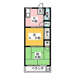 緑風ビル[3階]の間取り