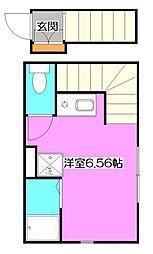 東京都清瀬市梅園3丁目の賃貸アパートの間取り