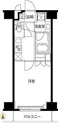 ルーブル東武練馬弐番館 4階1Kの間取り