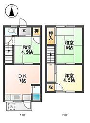 錦荘A棟[2階]の間取り