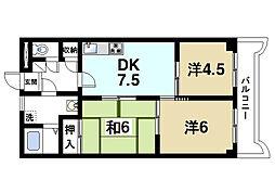 ラ・サンフォニー[4階]の間取り