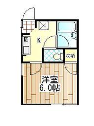 神奈川県厚木市愛甲東1丁目の賃貸アパートの間取り