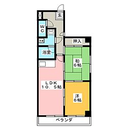 橘屋ビルA.M.D.E[6階]の間取り