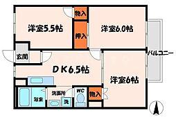 ハイツ西井[2階]の間取り