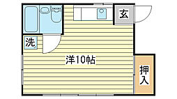 日東ハイツ東雲[201号室]の間取り