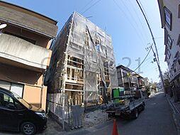 大阪府池田市鉢塚1丁目の賃貸アパートの外観
