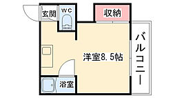 大阪府大阪市阿倍野区阪南町1丁目の賃貸マンションの間取り