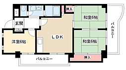 牧の原マンション[205号室]の間取り