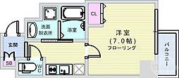 南海汐見橋線 汐見橋駅 徒歩4分の賃貸マンション 8階1Kの間取り