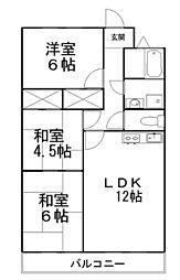 アーバンコート久保田[202号室]の間取り