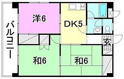 松山南ハイツ[107 号室号室]の間取り