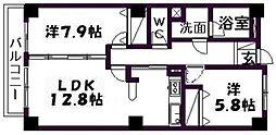 佐鳴湖パークタウンサウス[505号室]の間取り