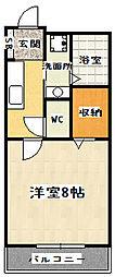 京都府京都市山科区竹鼻竹ノ街道町の賃貸アパートの間取り