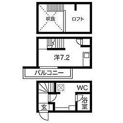 ブリス大江[2階]の間取り