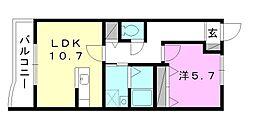 プロムナードK[305 号室号室]の間取り