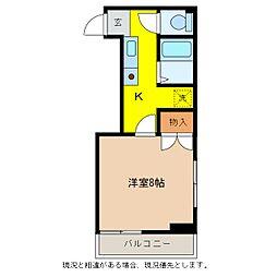 弥生アパート[2階]の間取り