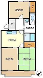 第5押田ハイツ 105[1階]の間取り