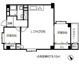 本町ハウス[10階]の間取り