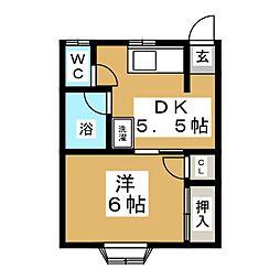 千寿荘1号館[2階]の間取り