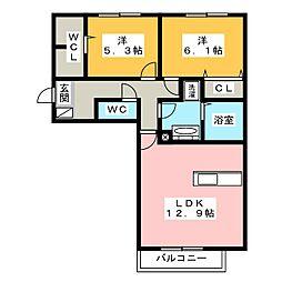 (仮)D-room竹ノ岬[3階]の間取り